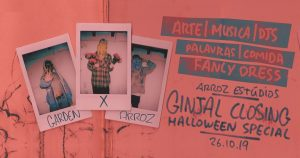 Upcoming Event | Garden x Arroz: Ginjal Closing Halloween Special | Arroz Estudios | Oct 26