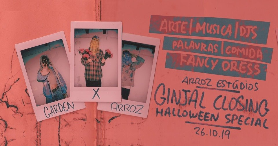 Upcoming Event | Garden x Arroz: Ginjal Closing Halloween Special | Arroz Estudios | Oct 26
